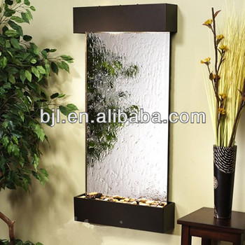 Indoor Waterfall Mirror Glass Water Wall Fountain Buy