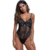 Femme Hot Transparent Ladies Yummy Scalloped Lace Teddy Mature Women Sexy Lingerie