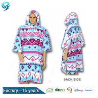Free sample [10% discount ] customized surf beach wear cotton hooded poncho towel for adults