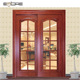 Grill glass insert designs of wood sliding door in philippines with wood door jamb