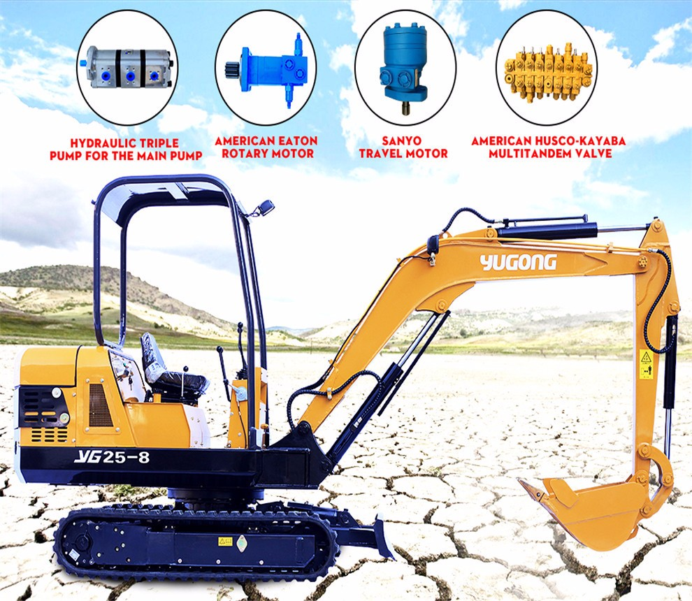 China 3 ton small mini excavator with japan imported engine