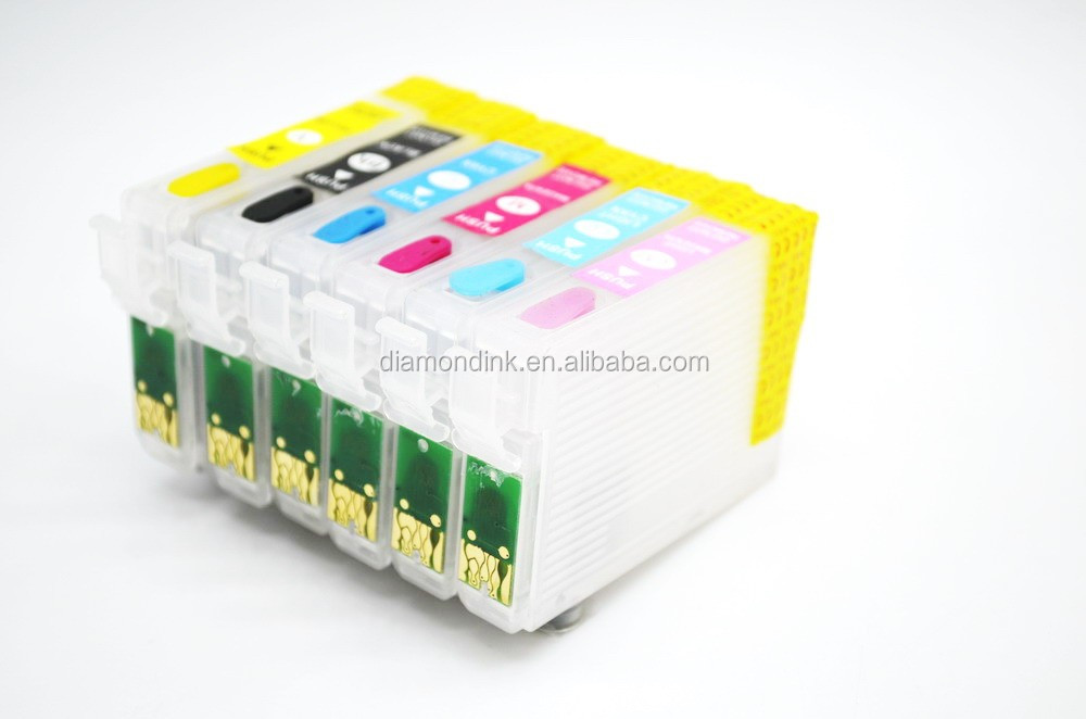 T0791 T0792 T0793 T0794 T0795 T0796 Refill ink cartridge with auto reset chip for Epson stylus photo 1500w inkjet printer