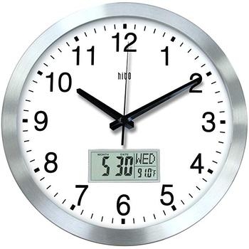 Silent Wall Clock Non ticking 12 inch Excellent Accurate Sweep Movement, Modern Decorative for Kitchen, Living Room, Bathroom, B