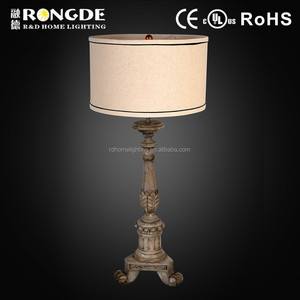 America style Manufacture Wholesale electric wood base table lamp