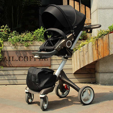 High Landscape, Fashion, High-quality, Bidirectional, Foldable, Aluminum Alloy, 2 in 1 Baby Stroller
