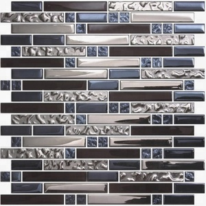 Mosaic glass tiles gold mosaic tile price irregular metallic glass mosaic tile