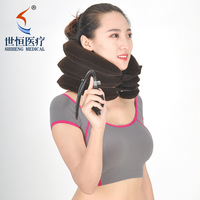 Inflatable Air Pump Cervical Collar / Air Neck Traction For Neck Relief