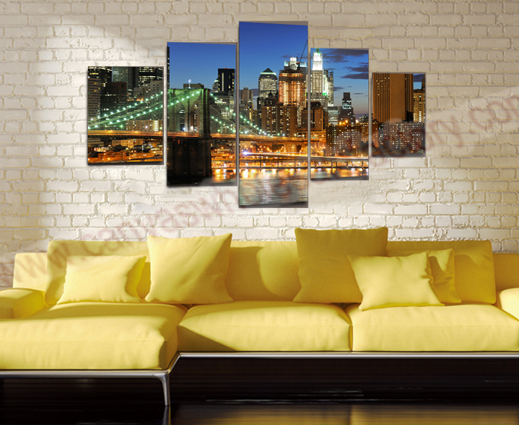 modern canvas wall art painting ideas of bridge 3d wall pictures for living room large canvas. Black Bedroom Furniture Sets. Home Design Ideas