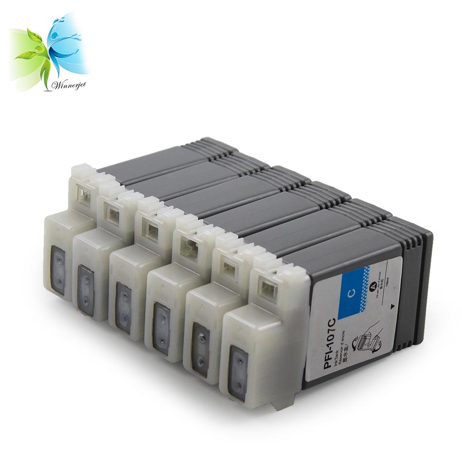 PFI-107 full ตลับหมึกสำหรับเครื่องพิมพ์สำหรับ Canon pfi107 เครื่องพิมพ์ IPF680 iPF685 iPF670 iPF770 iPF780 iPF785 ink tank