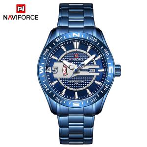NAVIFORCE 9157 Men Watch Sport Waterproof Wristwatch Military Army Business Stainless Steel Quartz Male Clock Relogio Masculino
