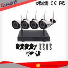 HD 1080P cctv wireless security camera system 4ch Wifi nvr set