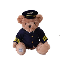 Pilot Captain 테 디 곰 봉 제 Doll Anime 봉 제 Toys Customized