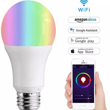 High Power Remote Control E26 E27 RGB Tuya Smart Light Bulb Holder Work With Alexa Google Home