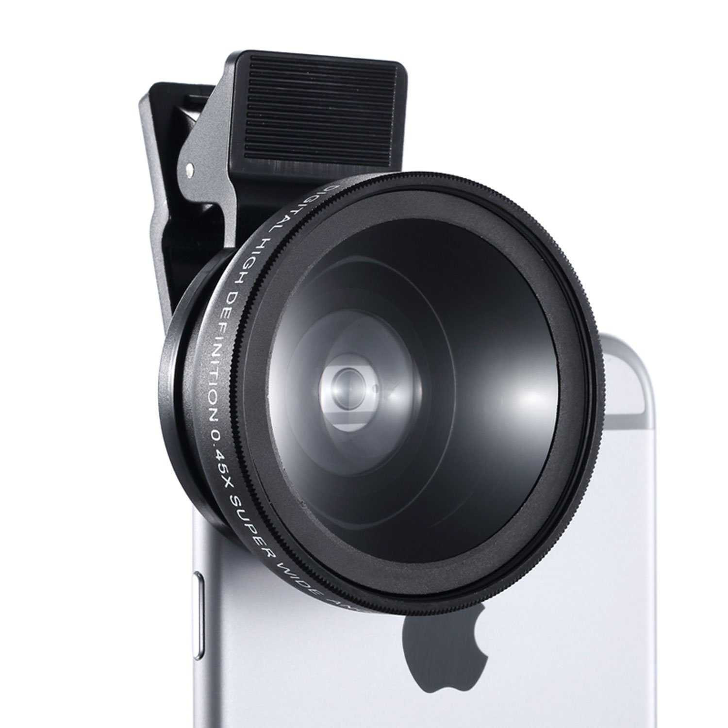 Cell Phone Camera Lens - HCE Universal Professional HD Camera Lens Kit 0.45x Super Wide Angle Lens & 12.5x Super Macro Lens for iPhone 7, 6s, 6, 5s & Most Smartphones