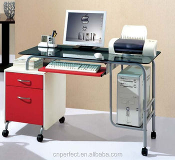 Drawing Table With Steel Glass Computer Desk Table