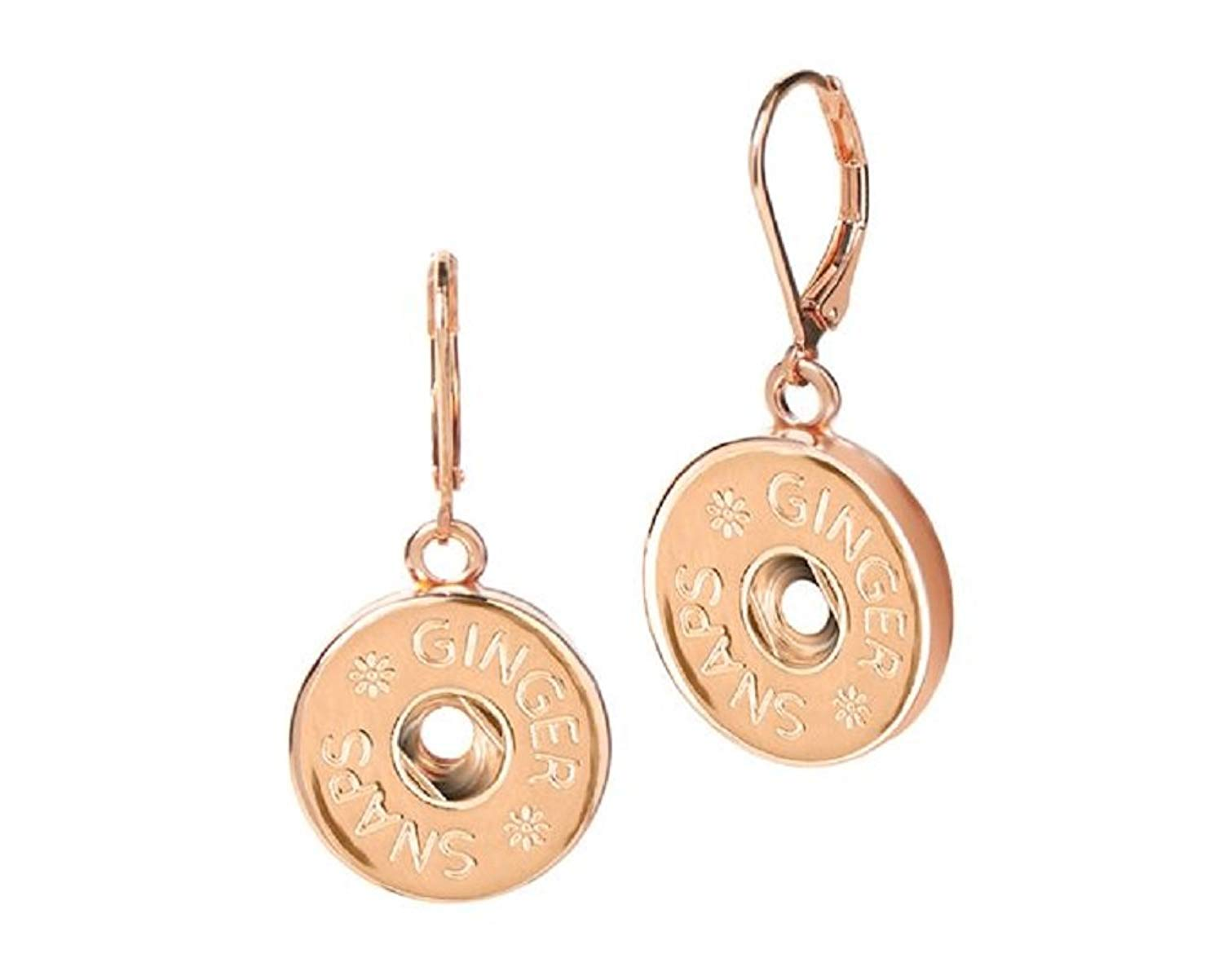 Ginger Snaps Rose (Simulated) Gold Leverback Earrings (Standard Size) SN96-01 Interchangeable Jewelry