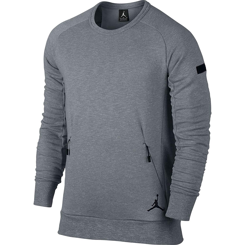 52048fb0a999 Get Quotations · Jordan Icon Fleece Sweatshirt Mens Style  802181-065 Size   M