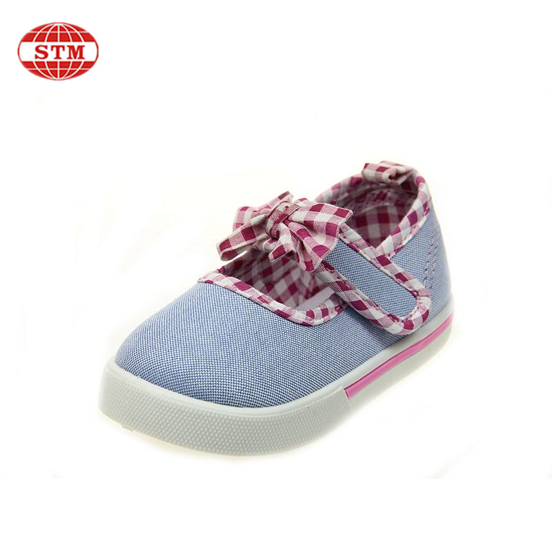 guangdong kids shoes factory high quality baby cute girls injection canvas dance shoes