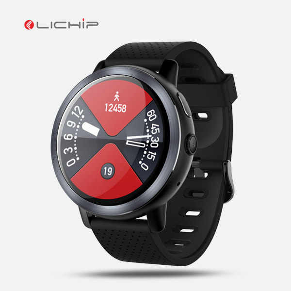 LICHIP 2018 600 mah 16 gb high end sim suporte all in one ip68 telefone para android 7.0 4g mapas 2 gb ram smartwatch 4g relógio inteligente