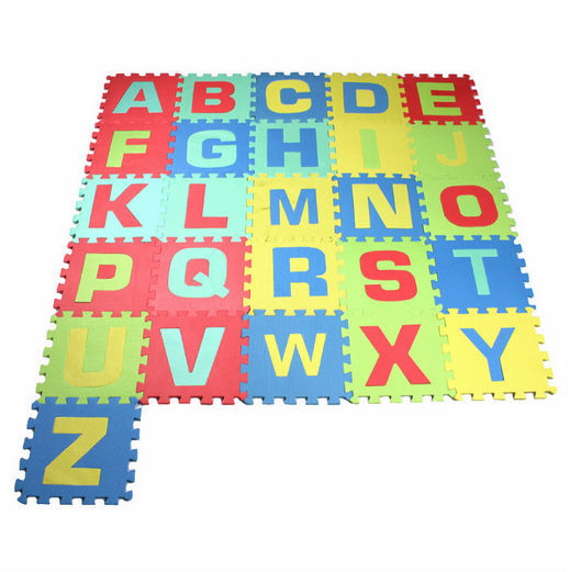 educational game toy EVA interlock animal play puzzle mat for kids