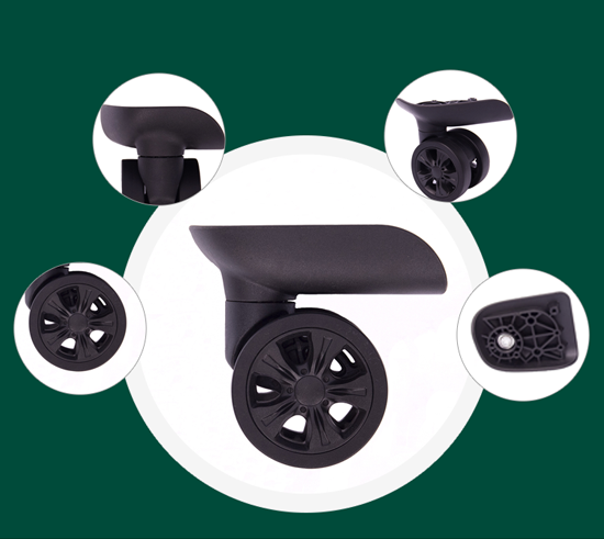 Parts of plastic trolley wheels