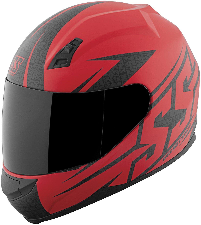 Speed & Strength SS700 Hammer Down Helmet, Distinct Name: Matte Red, Gender: Mens/Unisex, Helmet Category: Street, Helmet Type: Full-face Helmets, Primary Color: Red, Size: 2XL, 871432