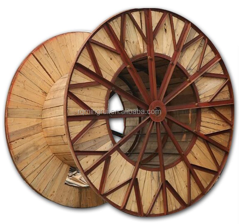 Wood & Metal Cable Drum Hybrid Cable Spools