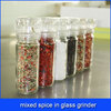 high quality mixed spice in glass grinder
