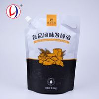 Custom Printed Flexible Liquid Packaging Stand Up Spouted Plastic Food Pouch Reusable With Hole