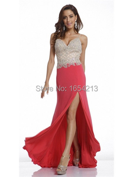 010b9b1e Get Quotations · elegant sweetheart sexy side slit sparkly long prom dresses  2015 with crystal black prom dress evening