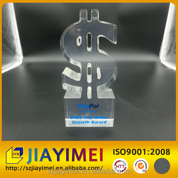 Top seller acrylic award for paybal