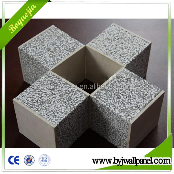 insulation lightweight construction material polystyrene wall panel for warehouse hospital