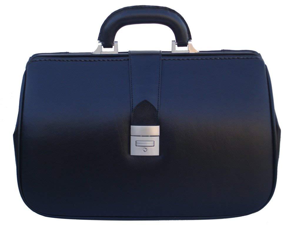 Get Quotations · RA Bock Fine Leather Doctor Bag - Medium - Black b058e486826fd