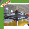best price black exhibition folding roof top tent fabric