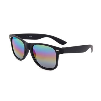 1cf920549d China Wholesale fashionable unisex plastic eyeglasses rainbow mirror lens  sunglasses