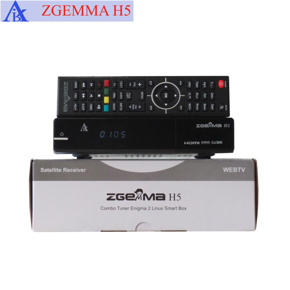 New Zgemma H5 With H 265 Hevc Combo Dvb-s2+t2/c Hybrid Tuner Digital  Satellite Receiver - Buy Zgemma H5,H 265 Satellite Receiver,Combo Receiver