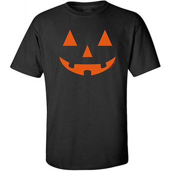 Funny Pumpkins Vintage Camp Horror Novelty Short Sleeve Tee Mens Halloween Pumpkin T Shirt For Guys Fitted Slim T Shirt