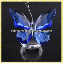 Wholesale Exquisite Cheap Blue Crystal Butterfly Wedding Gifts For Guests Takeaway Souvenirs