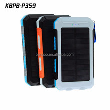 Factory wholesale waterproof 10000mah OEM power bank solar waterproof for iphone6/7