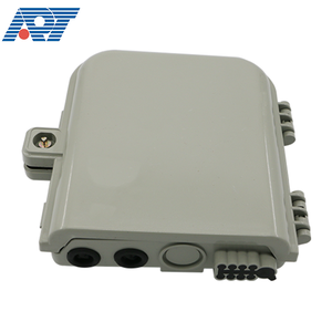 Indoor outdoor plastic 8 way ftth terminal fiber optic electrical distribution box with plc splitter