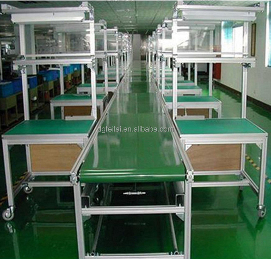 Mobile Phone LED Light Electronics Assembly Line Belt Conveyor Production Equipment