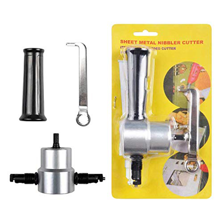 Ningbo 360 Degree Adjustable Double Head Sheet Metal Nibbler Cutter  Drill Attachment  Parts