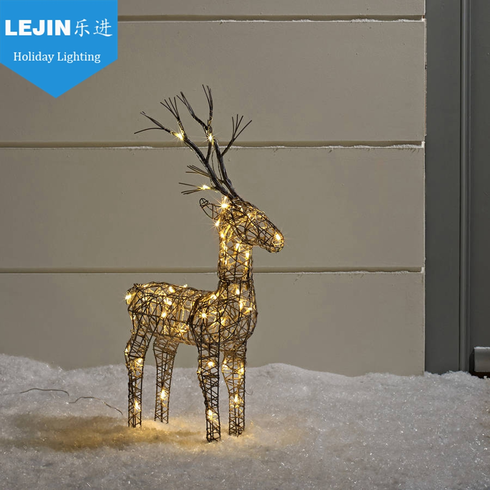 Stable Function outdoor christmas decoration led light reindeer