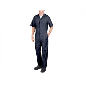 Short sleeve lightweight adult mechanic used men work coveralls