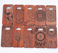 real wood carving phone case for galaxy s8 wood back covers, blank wooden case for galaxy s8 mobile phone