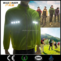 Customized waterproof led safety outdoor clothing for sport