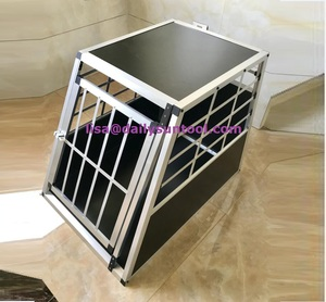 Cheapest prices of Aluminum Dog Cage Puppy Vehicle Transport Travel Crate Carrier Cage 65x90x69.5cm