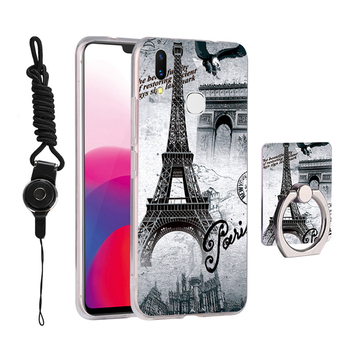 low priced 3f9db 4f861 Custom 3d Emboss Printing Case For Vivo V9 Cell Phone Cover Beautiful Girl  Eiffel Tower Ring Case For Vivo Phone - Buy For Vivo Phone,Case For ...