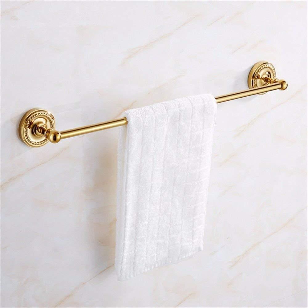 GKRY@Towel Rail Bar-Wall Mounted Bathroom Kitchen Brass Towel Holder Towel Bar Vintage gold plated brass wall-mounted bathroom, single towel bar