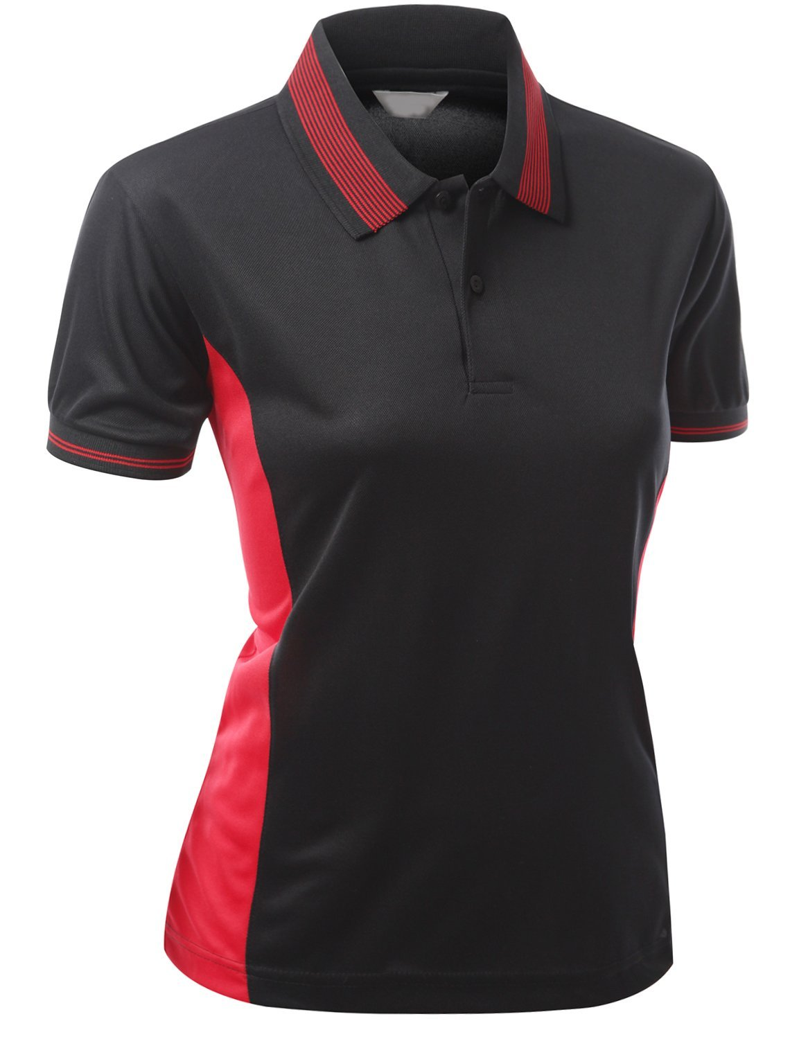 13972d04 Xpril Womens CoolMax Fabric Sporty Feel Polo T-Shirt with Collar Design